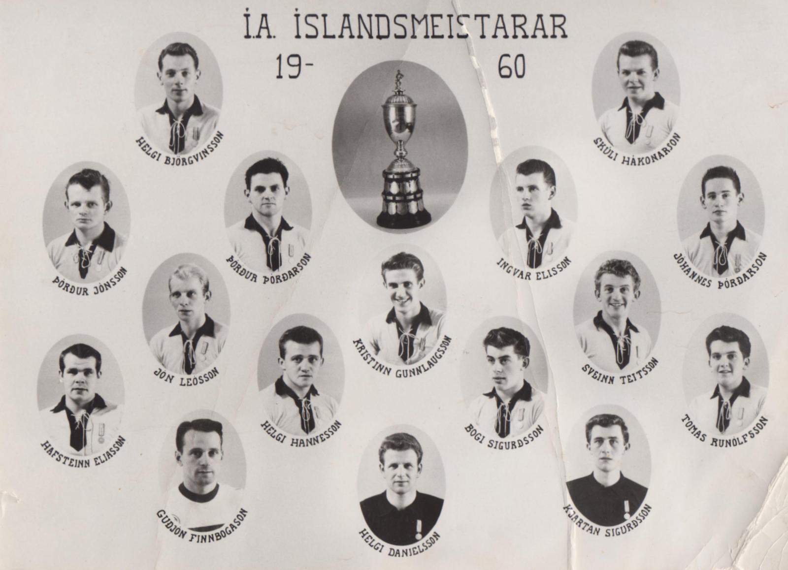 1960 Íslandsmeistarar ÍA mynd2