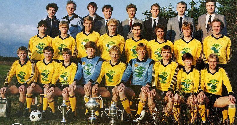 1984 ÍA Liðið Íslands- & Bikarmeistarar